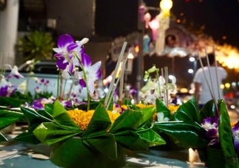 The Krathong, self-made to let it float on the river