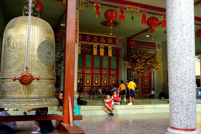 Temple with school Classes around