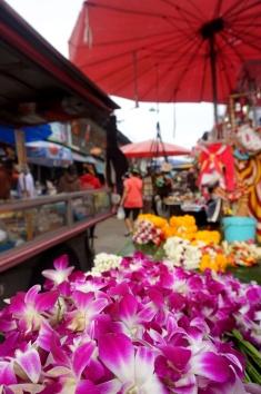Local street food market