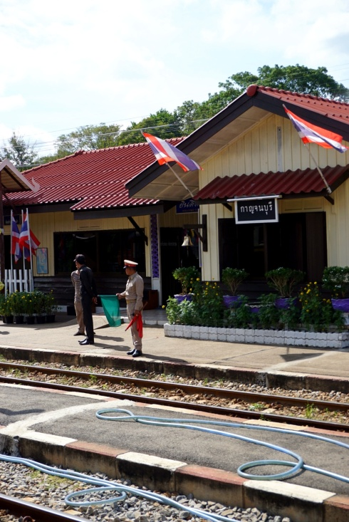 Manually coordinated - main train station in Kanchanaburi