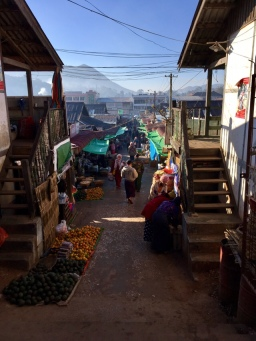 Street of Kalaw in the early morning