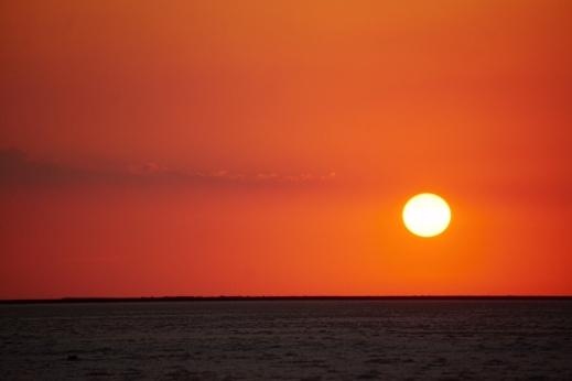 Stunning sunset in the desert
