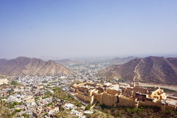 View from Jaighar Fort on Amer Fort