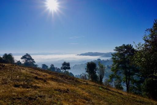 Morning scene in the highlands